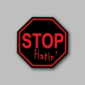 Stop Hatin - Racing Sticker - Vinyl Sticker