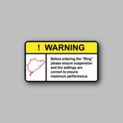 Warning before entering the ring - Racing Sticker - Vinyl Sticker
