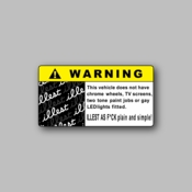 Warning Illest as f*ck - Racing Sticker - Vinyl Sticker