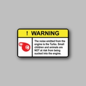 Warning noise emitted from engine - Racing Sticker - Vinyl Sticker