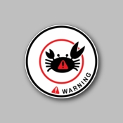 Warning - Racing Sticker - Vinyl Sticker
