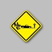Warning Wolf attack - Racing Sticker - Vinyl Sticker