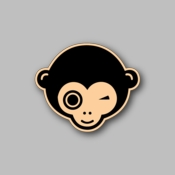 winking monkey - Racing Sticker - Vinyl Sticker