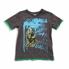 Appaman Bulldog Slub Tee in Vintage Black - <B>Last one size 2T</B>