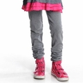 Appaman Girl Ruched Sweats in Heather Mist