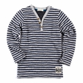 Appaman Houston Henley in Grey Stripe