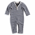 Appaman Houston Henley Romper in Grey Stripe - <B>Size 12-18M left</b>