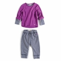 Appaman Infant Girl Combo Sweat Set in Passion Pit