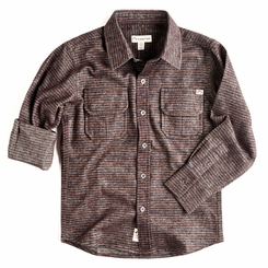 Appaman Mason Shirt in Bitter Chocolate Stripe