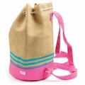Appaman Straw Bucket Backpack in Goji Berry
