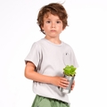 Go Gently Baby Organic Circle Pocket Tee in Pumice - <b>Size 5 left</b>