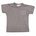 Go Gently Baby Organic Circle Pocket Tee in Slate