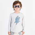 Go Gently Baby Organic Eagle Screen Tee in Pumice