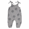 Go Gently Baby Organic Jersey Jumpsuit in Pumice Carousels