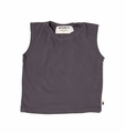 Go Gently Baby Boys Organic Muscle Tee In Charcoal