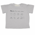 Go Gently Baby Organic Paper Airplane Tee in Pumice - <B>Last one sizes 7Y & 8Y</B>
