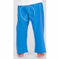 Go Gently Baby Organic Peace Pants in Pacific Blue - <B>Last one size 2T</B>