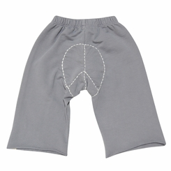 Go Gently Baby Organic Peace Pants in Slate - <b>Size 2T & 3T left</b>