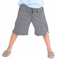 Go Gently Baby Organic Rounded Roo Shorts in Slate - <b>Last one size 7Y</B>
