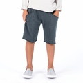 Go Gently Baby Boys Organic Surfer Short In Charcoal