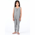Go Gently Baby Organic Tank Jumpsuit in Slate - <B>Last one size 3-6m left</b>