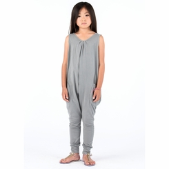 Go Gently Baby Organic Tank Jumpsuit in Slate - <B>Sizes 3-6M & 3T left</b>
