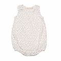 Go Gently Baby Organic Tank Onesie in Natural Dots - <b>Last one size 3-6M</B>