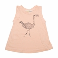 Go Gently Baby Organic Tank Top in Creamsicle Ostrich