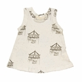 Go Gently Baby Organic Tank Top in Soft White Carousels