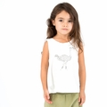 Go Gently Baby Organic Tank Top in Soft White Ostrich