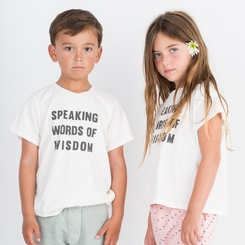Go Gently Baby Organic Wisdom Screen Tee in Soft White - - <b>Last one size 7Y</B>
