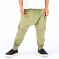 Go Gently Baby Organic Woven Harem Pant in Olive