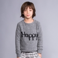 Joah Love Alfie Happy Sweatshirt in Heather Grey