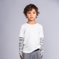 Joah Love Beck Stripe Tee in White - <b>Size 4Y left</B>