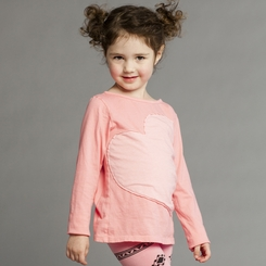 Joah Love Beti Heart Tee in Candy - <B>Sold Out</B>