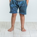 Joah Love Brenden Camo Shorts in Cove Blue