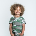 Joah Love Camo Print Jayden Top in Ash - <b>Sold Out</b>
