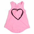 Joah Love Cari Heart Tank Top in Pink - <b>Last one size 10</b>