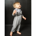 Joah Love Cozy Baby Romper in Alloy - <B>Last one Size 0-3m</B>