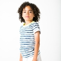Joah Love Davis Tee in Cobalt Stripe <B>Last one size10 left</b>
