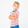 Joah Love Davis Tee in Red Stripe - <B>Size 5T left</b>