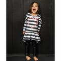 Joah Love Dora Heart Striped Dress - <B>Last one size 12</B>