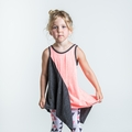 Joah Love Hanna Sleeveless Tunic in Charcoal Coral
