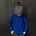 Joah Love Harry Striped Tee in Ultramarine - <b>Sizes 2 & 8 left</b>