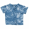 Joah Love James V neck Burnout Tee in Denim - <B>Size 3 left</B>