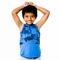 Joah Love Jared Camo Panel Tank Top in Carolina Blue  <B>Last one size 2T</b>