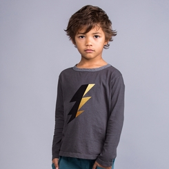 Joah Love Jett Bolt Tee in Titanium - <B>Size 3T left</B>