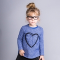 Joah Love Joanna Heart Hi Lo Sweatshirt in Atlantic