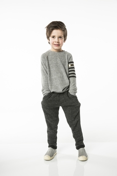 Joah Love Joss Flc Pant in Charcoal  <B>Sold Out</B>