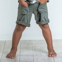 Joah Love Knox Marble Shorts in Fern - <b>Sold Out</b>